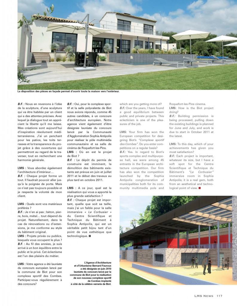 FAUROUX ARCHITECTE VALBONNE PROVENCE ALPES COTE D'AZUR NICE LMS NEWS 2